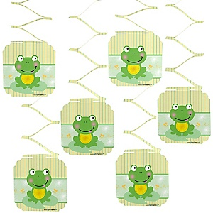 Froggy Frog - Baby Shower Hanging Decorations - 6 Count