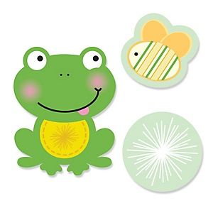 Froggy Frog - Shaped Baby Shower Paper Cut-Outs - 24 ct