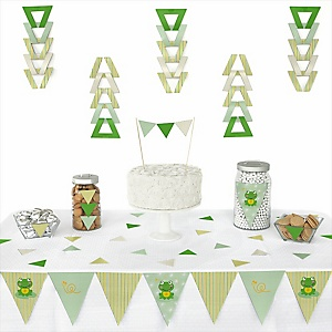 Froggy Frog - Baby Shower Triangle Decoration Kits - 72 Count