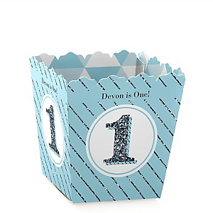 Fun to be One - 1st Birthday Boy - Personalized 1st Birthday Party Candy Boxes