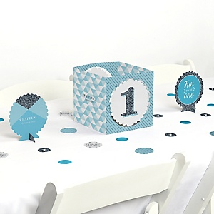 Fun to be One - 1st Birthday Boy - Birthday Party Centerpiece & Table Decoration Kit