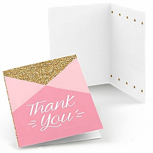 Fun to be One - 1st Birthday Girl - Birthday Party Thank You Cards - 8 ct