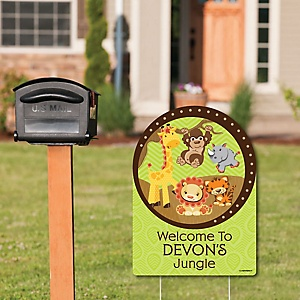 Funfari - Fun Safari Jungle - Party Decorations - Birthday Party or Baby Shower Personalized Welcome Yard Sign