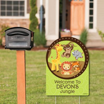 funfari fun safari jungle party decorations birthday party or baby shower welcome
