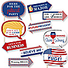 Funny Presidential Inauguration Day - 10 Piece Photo Booth Props Kit