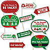 Funny Ugly Sweater - 10 Piece Photo Booth Props Kit