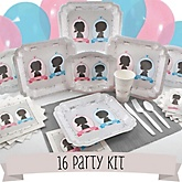 Gender Reveal - 16 Person Baby Shower Kit