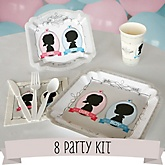 Gender Reveal - 8 Person Baby Shower Kit