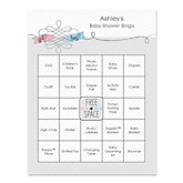 Gender Reveal - Bingo Personalized Baby Shower Games - 16 Count