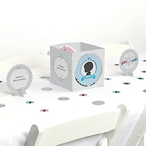 Gender Reveal - Baby Shower Centerpiece & Table Decoration Kit