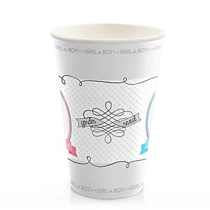Gender Reveal - Party Hot/Cold Cups - 8 ct