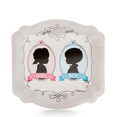 Gender Reveal - Dessert Plates - 8 Qty/Pack - Baby Shower Party Supplies
