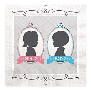 Gender Reveal - Party Luncheon Napkins - 16 ct