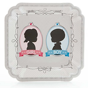 Gender Reveal - Party Dinner Plates - 8 ct