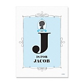 Gender Reveal Boy - Personalized Baby Shower Poster Gifts