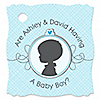 Gender Reveal - Boy  - Personalized Party Tags - 20 ct