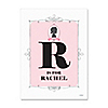 Gender Reveal Girl - Personalized Baby Shower Poster Gift