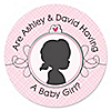 Gender Reveal - Girl - Personalized Party Sticker Labels - 24 ct