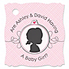 Gender Reveal - Girl - Personalized Party Tags - 20 ct