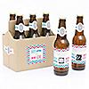Gender Reveal - Girl - Gender Reveal Scratch Off Beer Bottle Labels and 6-Pack Carrier - Set of 6