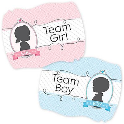 Gender Reveal Baby Shower Team Stickers