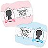 Gender Reveal - Gender Reveal Team Stickers - 16 ct