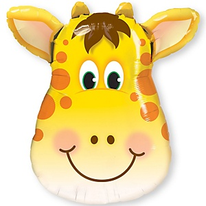 "32"" Jolly Giraffe - Super Shaped Mylar Baby Shower Balloon"