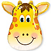 Jolly Giraffe - Birthday Party Mylar Balloon - 32""