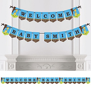 Giraffe Boy - Personalized Baby Shower Bunting Banner