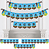 Giraffe Boy - Personalized Birthday Party Bunting Banner & Decorations