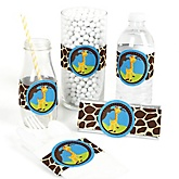 Giraffe Boy - Do It Yourself Baby Shower Wrappers - 15 Count