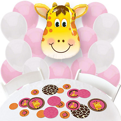Giraffe Girl Balloon baby shower decorations