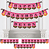 Giraffe Girl - Personalized Birthday Party Bunting Banner