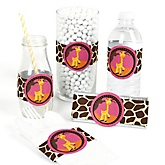 Giraffe Girl - Do It Yourself Baby Shower Wrappers - 15 Count