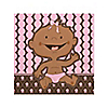 Modern Girl African American  - Birthday Party Beverage Napkins - 16 ct