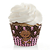 Modern Girl African American First Birthday Party - Birthday Party Cupcake Wrappers