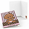 Modern Girl African American First Birthday Party - Birthday Party Thank You Cards - 8 ct