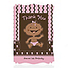 Modern Girl African American First Birthday Party - Personalized Birthday Party Thank You Cards