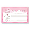 Baby Girl - Personalized Baby Shower Helpful Hint Advice Cards - 18 ct.