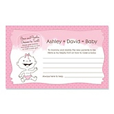 Baby Girl - Baby Shower Helpful Hint Advice Cards Game - 18 Count