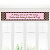 Modern Baby Girl - Personalized Baby Shower Banners