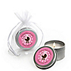 Girl Baby Carriage - Personalized Baby Shower Candle Tin Favors