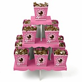 Girl Baby Carriage - Baby Shower Candy Stand & 13 Fill Your Own Candy Boxes