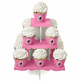 Girl Baby Carriage - Baby Shower Cupcake Stand & 13 Cupcake Wrappers