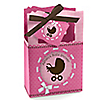 Girl Baby Carriage - Personalized Baby Shower Favor Boxes