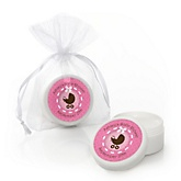 Girl Baby Carriage - Personalized Baby Shower Lip Balm Favors