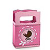 Girl Baby Carriage - Personalized Baby Shower Mini Favor Boxes