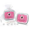 Girl Baby Carriage - Personalized Baby Shower Mint Tin Favors