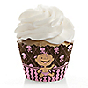 Modern Baby Girl Caucasian - Baby Shower Cupcake Wrappers