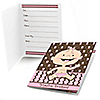 Modern Baby Girl Caucasian - Baby Shower Fill In Invitations - 8 ct